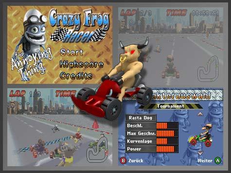 GBA Spiel - Crazy Frog Racer
