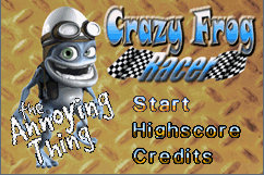 gba crazy frog titel screenshots