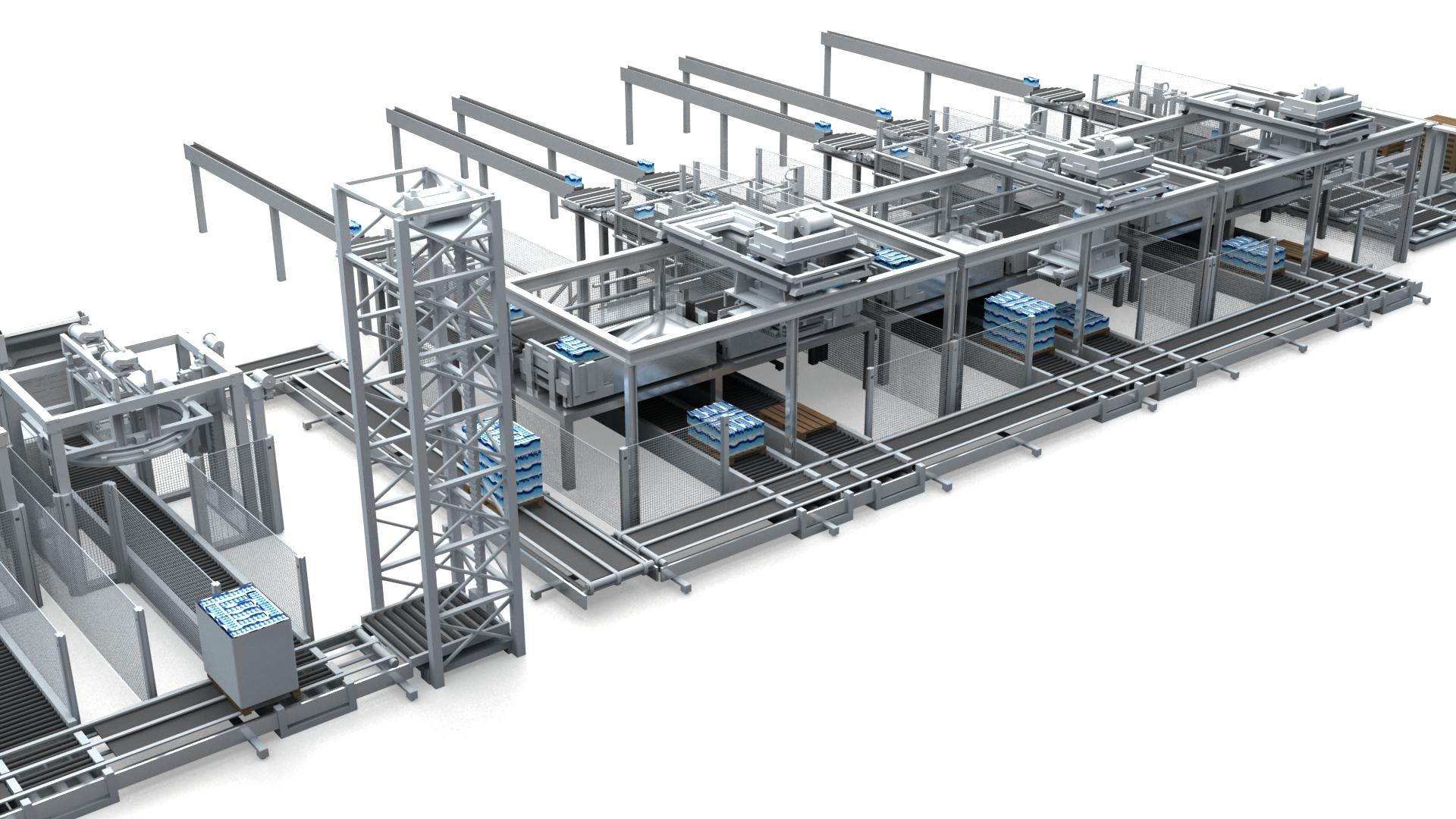 3D Animation Verpackungsmaschine