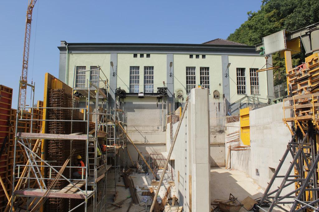Foto Bauphase Fischtreppe WKA Unkelmühle