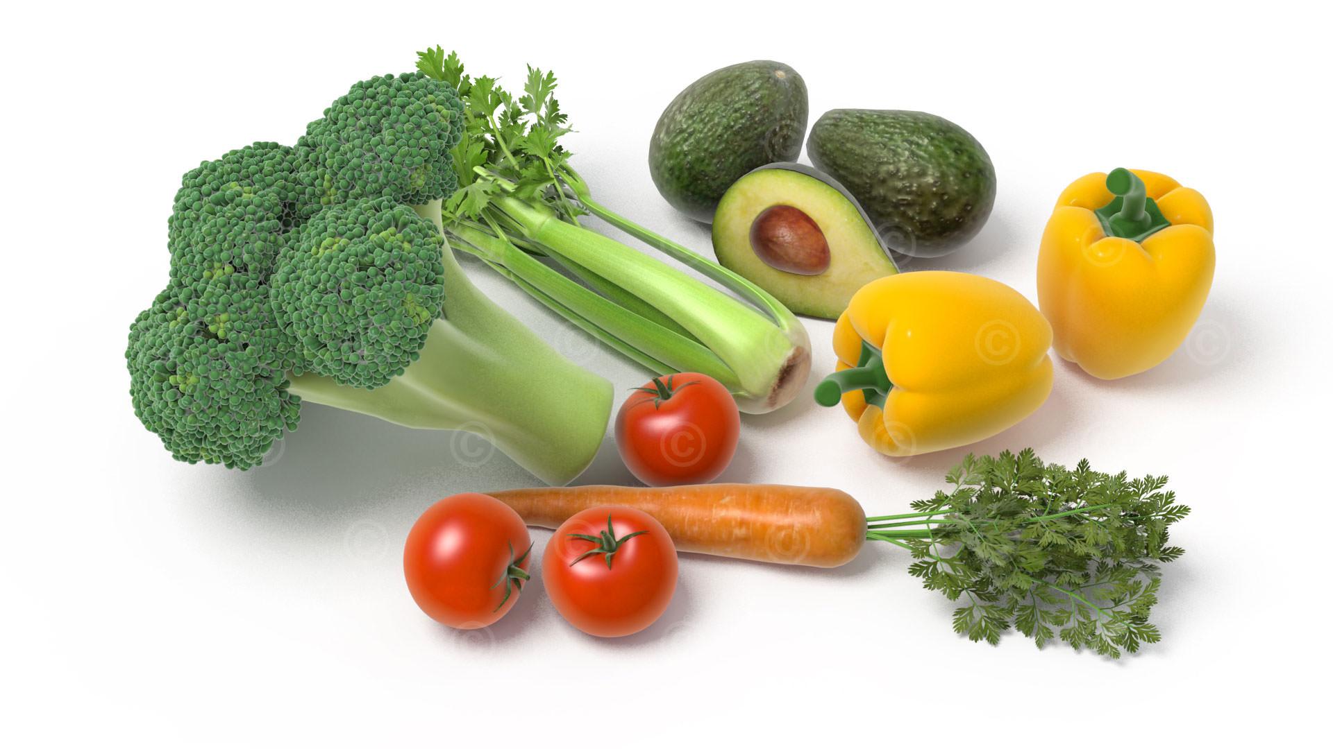 Illustration Ernährung Gemüse