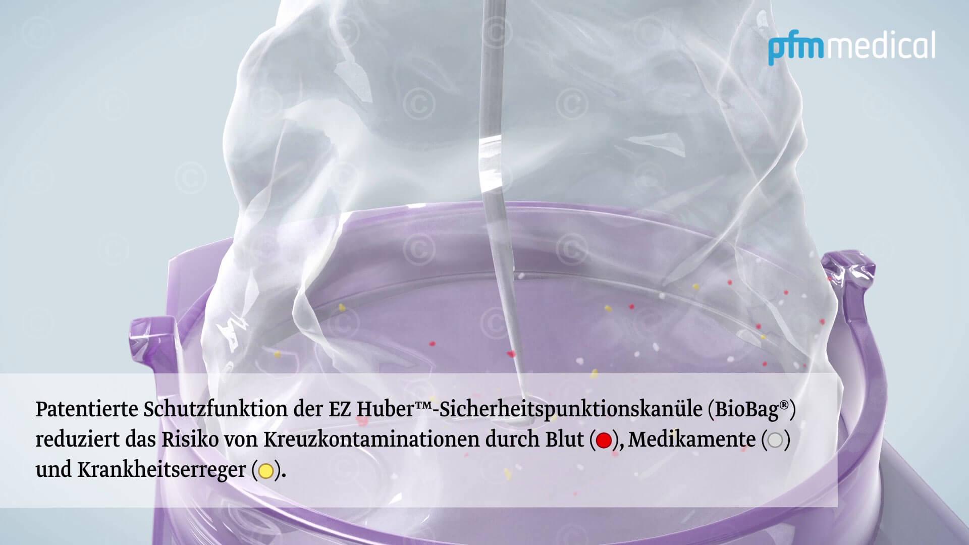 portkanuele verhinderung kontamination