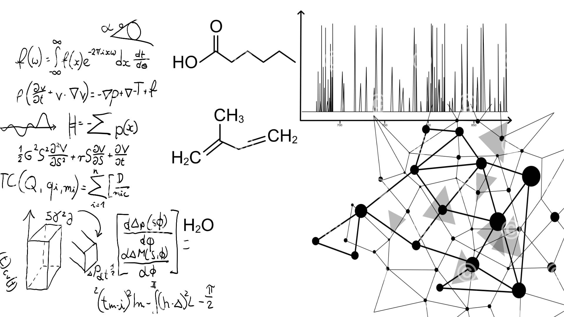 Formeln und Massenspektrometer